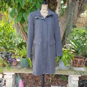 Kenneth Cole gray wool blend coat
